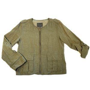 Sanctuary Army Green Utility Jacket Sz Med